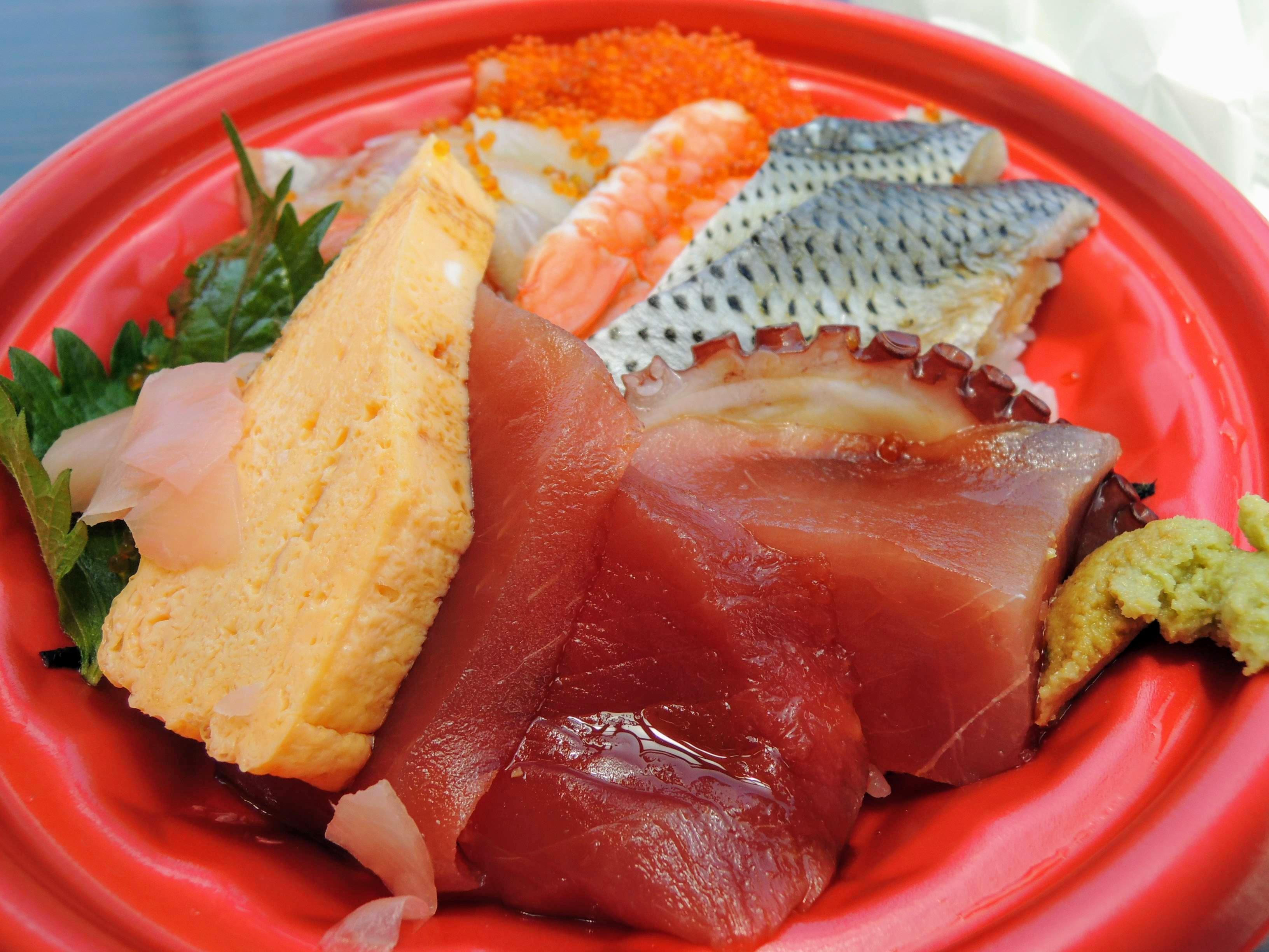 海鮮丼をいただきます♪