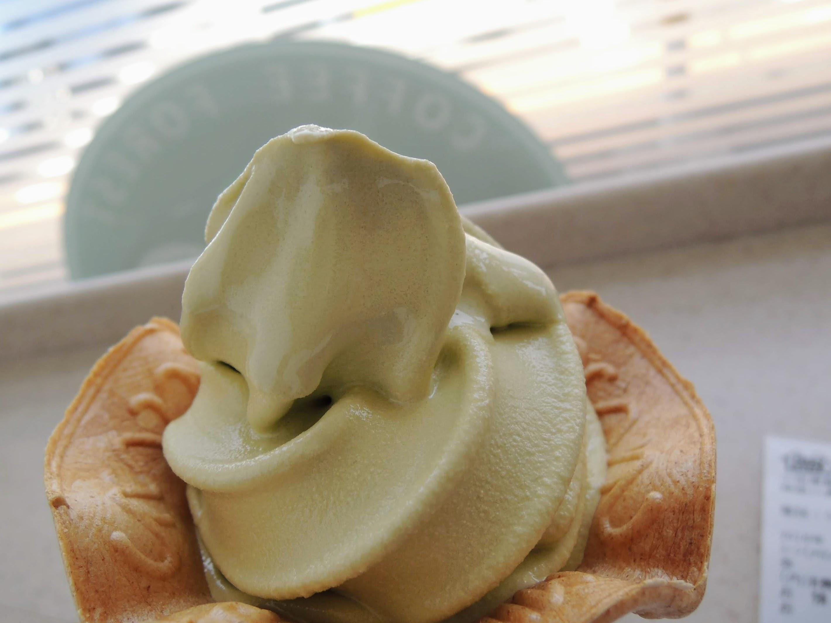 ミニストップのメロンソフトクリーム