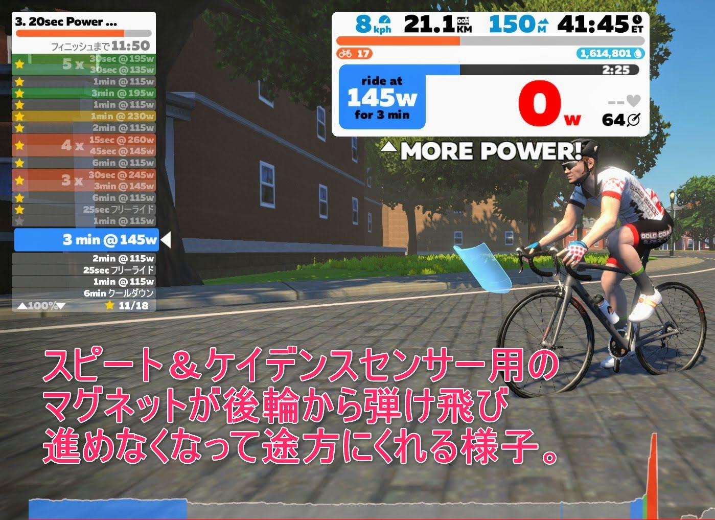 ZWIFTゲーム画面-2