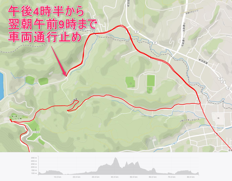 城山湖へのアプローチマップ