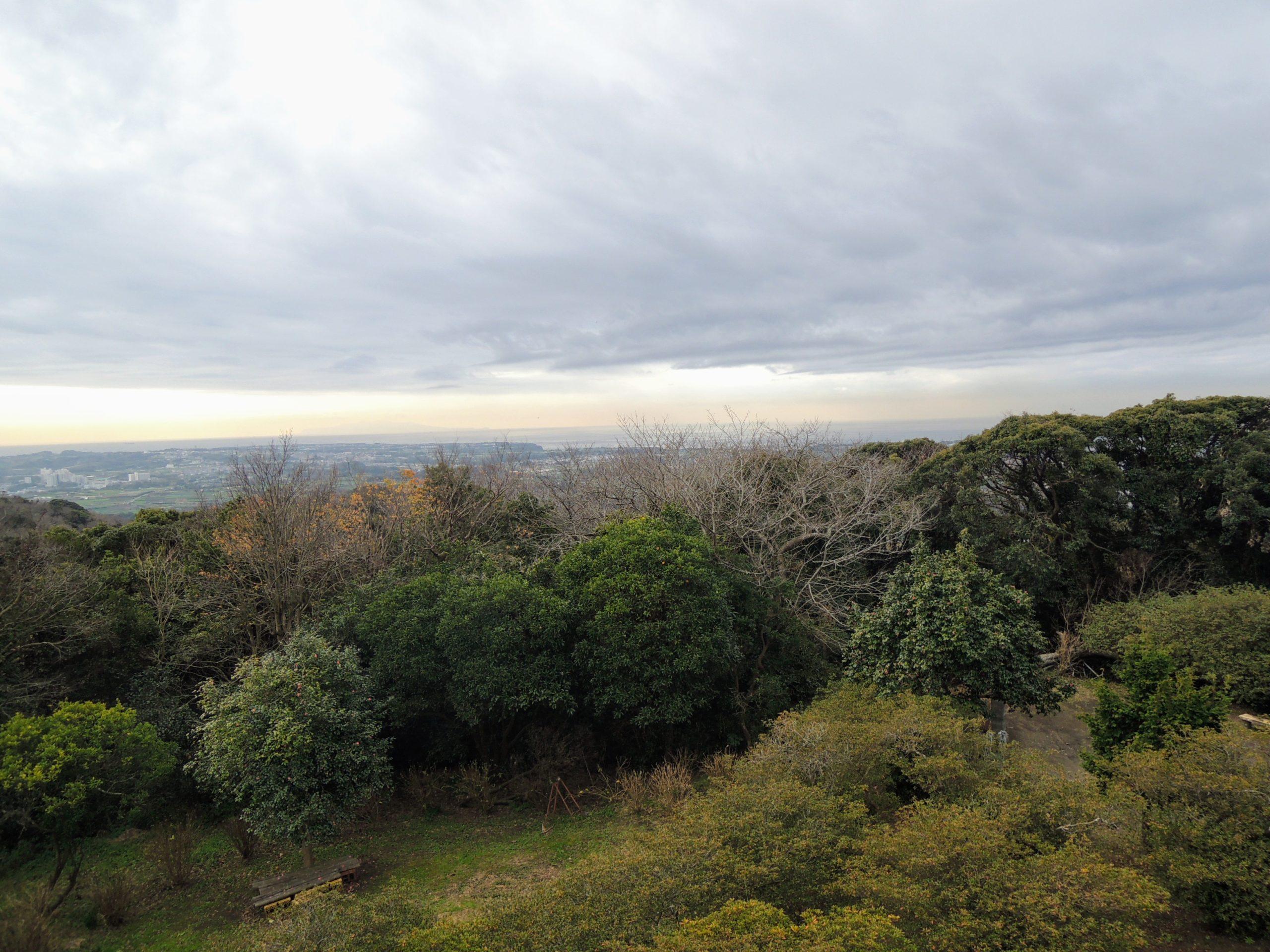 武山不動院の展望台からの眺望