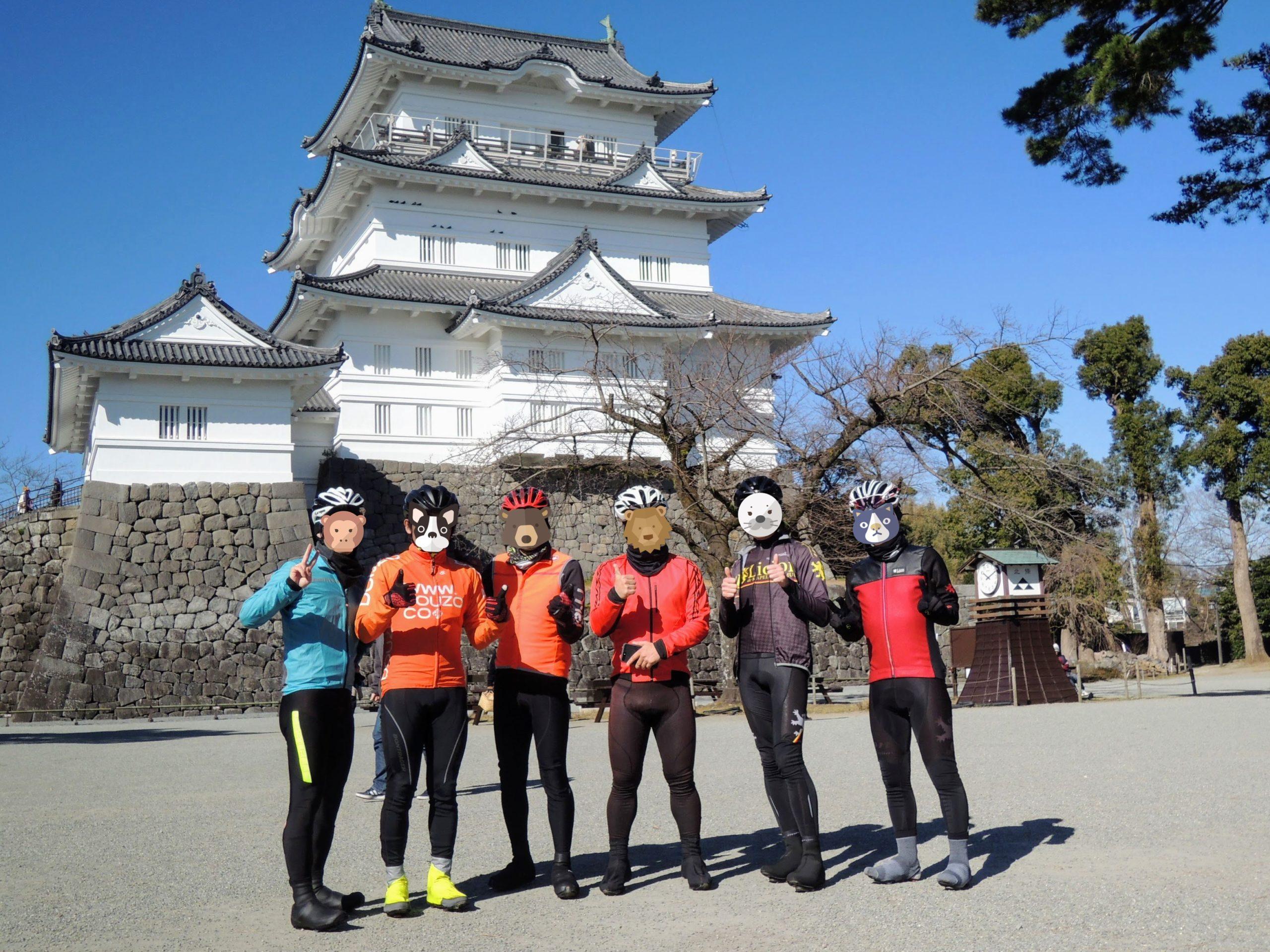 小田原城で記念撮影