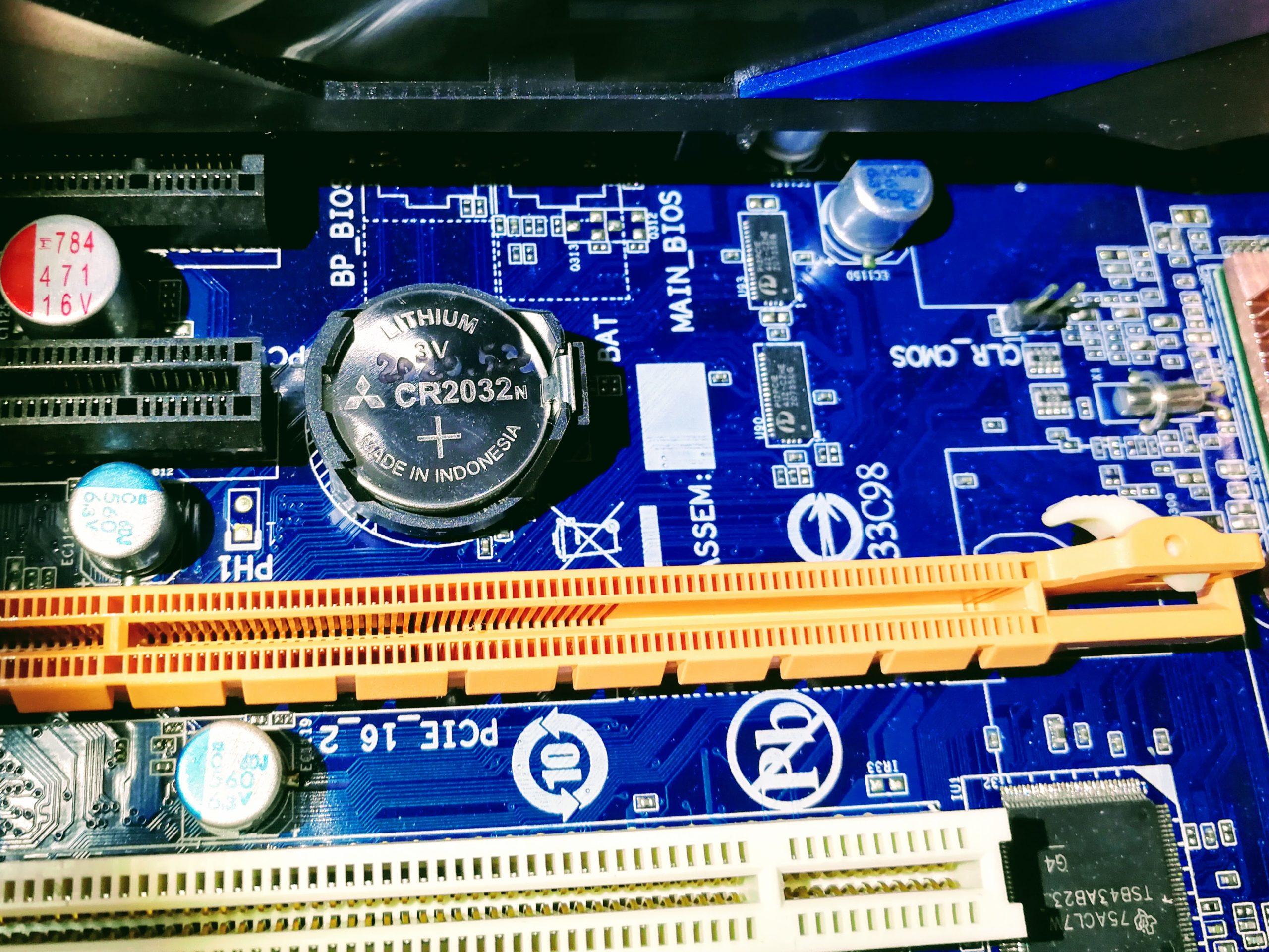 原因究明、CMOS電池だった
