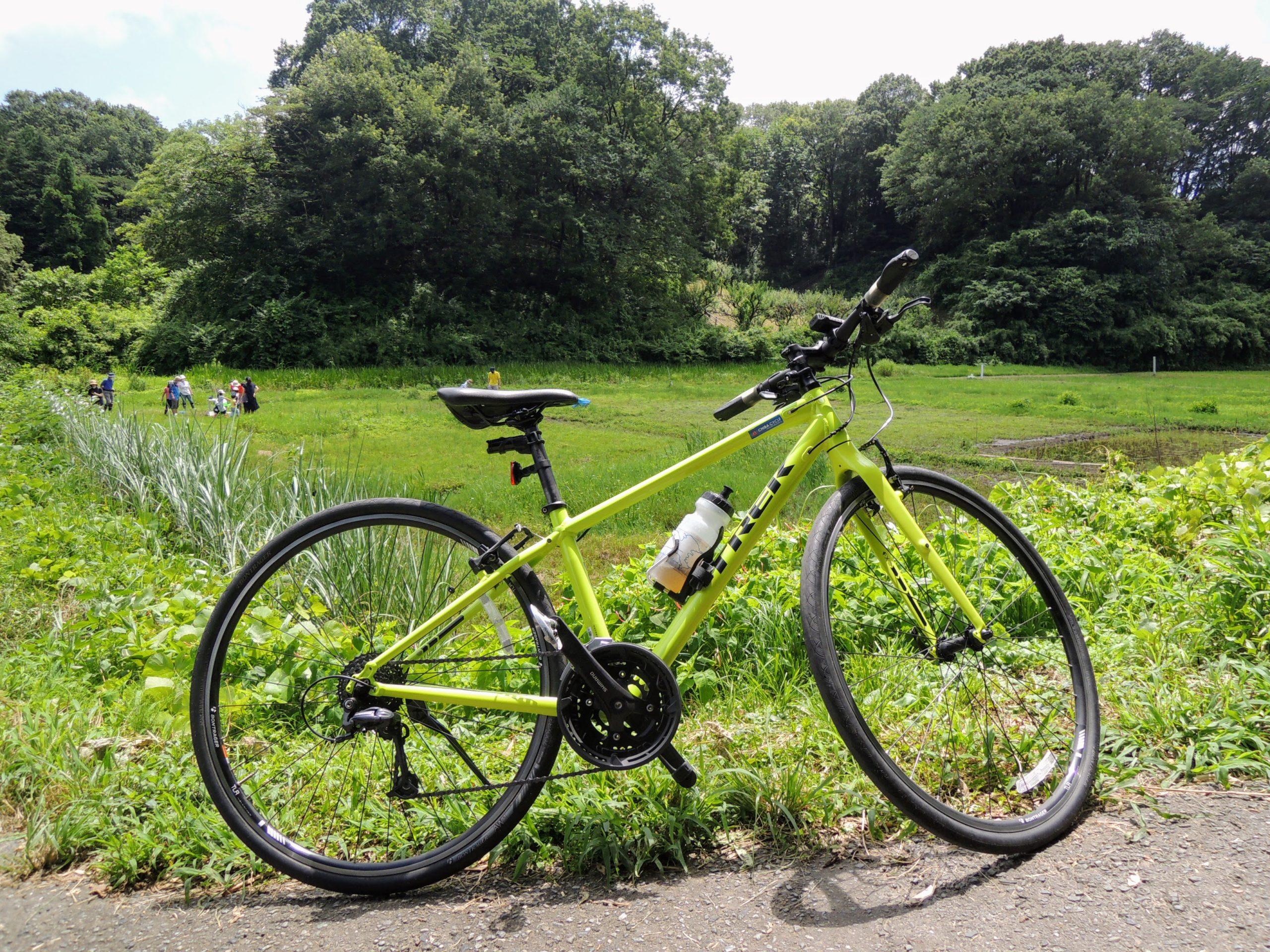 田園風景とクロスバイク